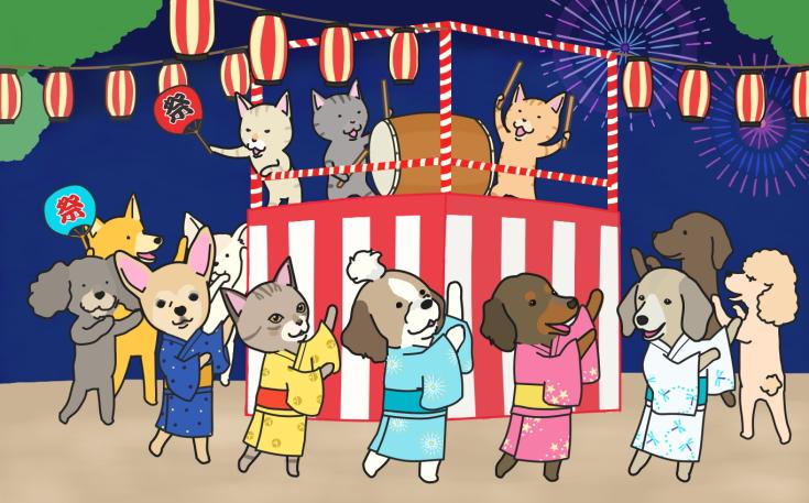 かむらカレンダー壁紙2014年8月image